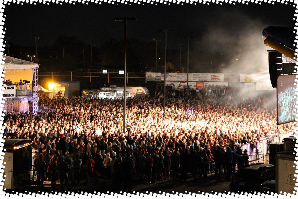 Image de la foule du Festival du Bleuet pour la section à propos