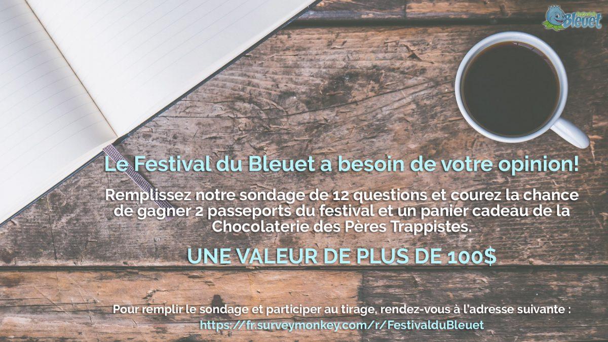 Festival du Bleuet - Sondage